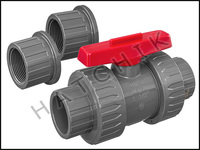 V1491 TVI TRUE UNION/SAFETY BLOCK 1.5 BALL VALVE  SLIP X SLIP  PVC