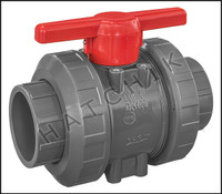 V1497 TVI TRUE UNION/SAFETY BLOCK 4 BALL VALVE  SLIP X SLIP  PVC