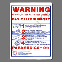"""X4015 SIGN-""""BASIC LIFE SUPPORT"""" #40367 #40367"""
