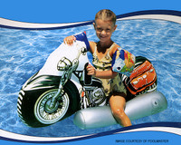 Y2124 POOLMASTER #81766 MOTORCYCLE SUPER JUMBO RIDER