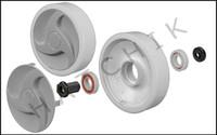 E1A05 HAYWARD #AX6009BGR REAR WHEELS W/BEARINGS,NUTS, AND HUBCAPS