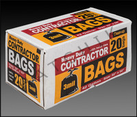 """EE1068 CONTRACTOR TRASH BAG 42gal(20 BOX) 3mil. BOX OF 20 BAGS (2'8"""" X 4'2"""")"""