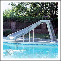 G3130 WHITEWATER SLIDE CURVE LEFT COLOR:WHITE/COMPLETE W/LADDER