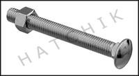 """G4014 DURAFLEX SF141  5/8"""" X 5-1/2 ZINC PLATED BOARD BOLT W/ NUT"""
