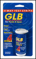 A5038 GLB 4-WAY TEST STRIPS (50/BOTTLE) (50/BOTTLE)     #71000