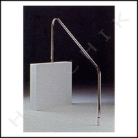 """G8085 ASTRAL H-RAIL 72"""" 2 BEND .049 1.7 SS ELECTROPOLISHED  .049"""