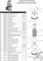 H2020 JANDY DEV48 D.E. FILTER W/O VALVE Jandy Jandy Diatomaceous Earth Filter, Versa Plumb