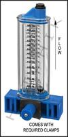 """H7042 FLOWMETER- ROLACHEM 2-1/2"""" VERT. VERTICAL MOUNT 60-240 GPM"""