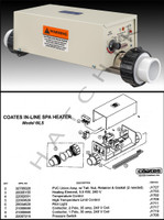 J1207 COATES SPA & HOT TUB HEATER MODEL 6ILS  5.75KW  240V