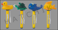 B1301 THERMOMETER ROUND FLOATING WHALE,TURTLE,DUCK OR BOAT
