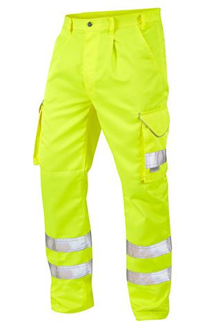 Great Quality Polycotton Hi Viz Cargo Trousers - Yellow