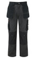 Top Quality Trousers with Tools Pockets, Cordura Fabric Top Loading Knee Pad Pockets - Grey/Black