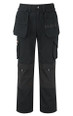 Top Quality Trousers with Tools Pockets, Cordura Fabric Top Loading Knee Pad Pockets - Black