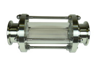 """Sanitary Sightglass 304 Stainless Clamp Ends 1-1/2"""""""