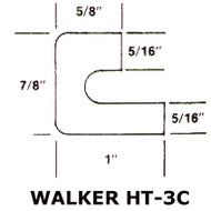 """19"""" Black EPDM Manway Gasket Compatible with Walker HT3C"""