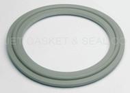 "2.5"" White Buna Metal Detectable Tri-Clamp Gasket"