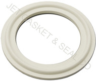 "8"" White Silicone Tri-Clamp Gasket"