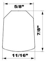 "15.5"" Grey EPDM Manway Gasket Compatible with Zorzini G/170"