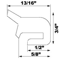 """18"""" Grey EPDM Manway Gasket Compatible with Alfa Laval #9611700451 G&H LKDC"""