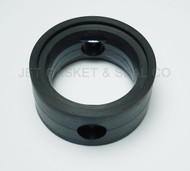 "Brewery Gaskets (metal Handle) Butterfly Valve Seat 2"" Black EPDM"