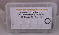 180 Piece O-ring Kit Brewers Little Buddy EPDM