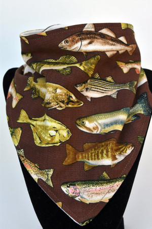 Fish Derby bandana bib