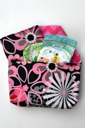 Flower Shower Pink diaper-to-go bag