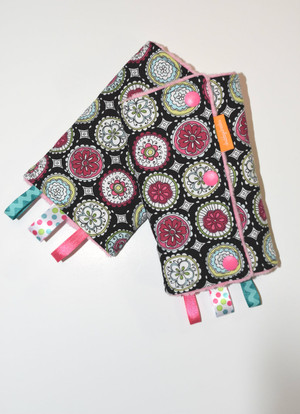 Flowers in Circles baby carrier drool pads