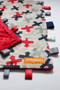 Airplanes tag blanket (large) with red minky back