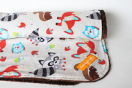 Woodland Animals with brown minky back blanket