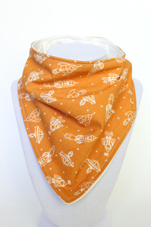 Blast Off! bamboo backed bandana bib
