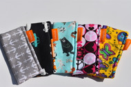 5 pack freezie cozy with arrow, cars, animal, peace & love and butterfly
