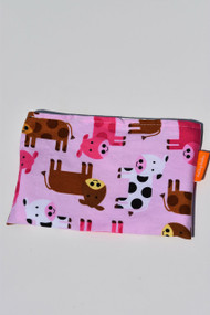 Pink Cows small snack bag