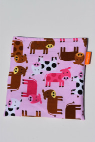 Pink Cows snack bag