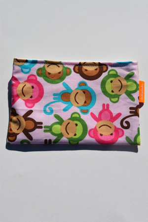 Pink Monkey size small snack bag
