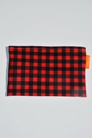 Size small lumberjack plaid snack bag
