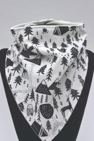 Harvest Moon bandana bib with bamboo back