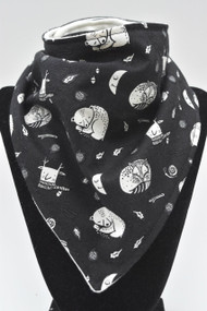 Black Hibernation bandana bib with bamboo back