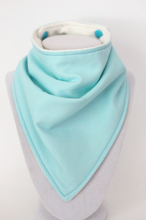 Solid Sky Blue bandana bib with bamboo back.