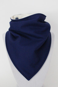 Solid Royal Blue bandana bib with bamboo back.