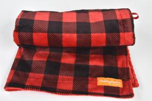 Buffalo Plaid Red stroller blanket