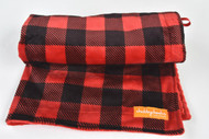 Buffalo Plaid Red stroller blanket