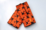 Drool Pads - Orange Airplane (no ribbon)