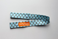 Toy Strap - Grey and Blue Dots