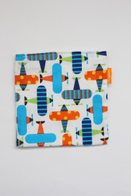 Airplanes reusable snack bag