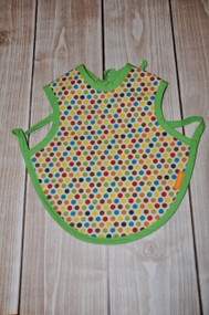 Multi coloured dot bapron size small