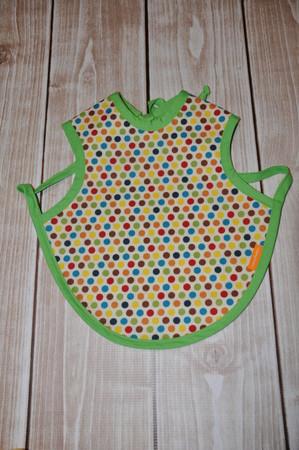 Multi coloured dot bapron size small