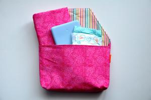 Pink Circles diaper to go bag