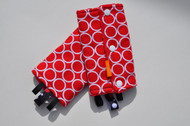 White on Red dots baby carrier drool pads