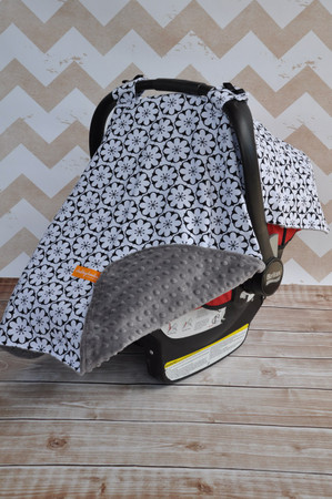 Circled Flowers Car Seat Canopy